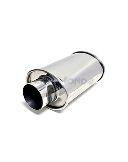 Vibrant ultra quiet stainless steel muffler oval 3'' (universal)
