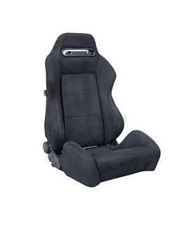 SIMONI RACING BUCKET SEAT TYPE R LOOK BLACK/RED STICHING (UNIVERSAL)