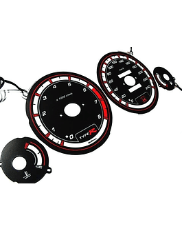 H-GEAR INDIGLO CLUSTER PLATES BLUE (ACCORD 94-97 2DRS)