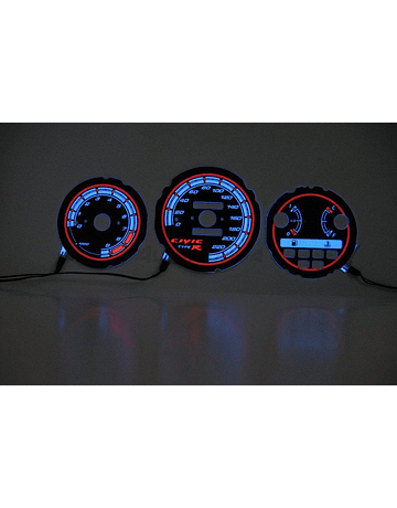H-GEAR INDIGLO CLUSTER PLATES BLUE (CIVIC 92-95)
