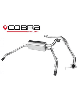 COBRA CAT BACK EXHAUST SYSTEM RESONATED HONDA CIVIC TYPE R FN2 07-11