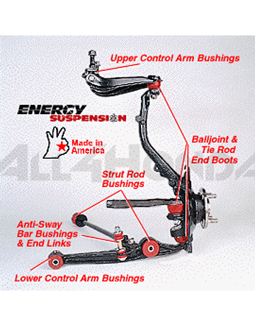 ENERGY SUSPENSION HYPER-FLEX SYSTEM MASTER KIT PU (PRELUDE 97-01 2.0/2.2)
