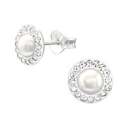 Aritos con perlas
