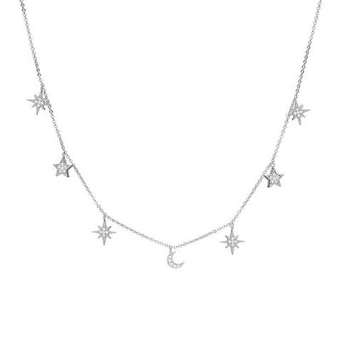Choker luna y estrellas