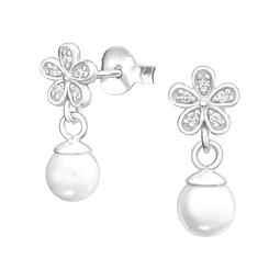 Flor con perla