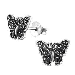 Mariposa de plata 925  con circones