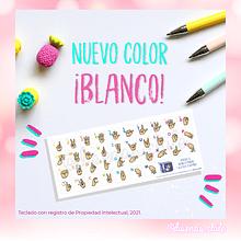 Teclado Sticker Diseñas - Color Blanco