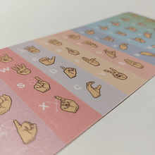 Teclado Diseñas - Color Arcoiris tono Pasteles