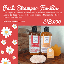 Pack Shampoo/Acondicionador Familiar