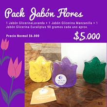 Pack Jabones Flores