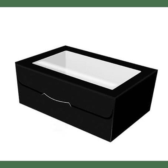 Embalagem Cartolina Preta C/ Janela – Pack 100