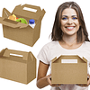 Caixa Asa Menu Lunch Box Kraft - 100uni