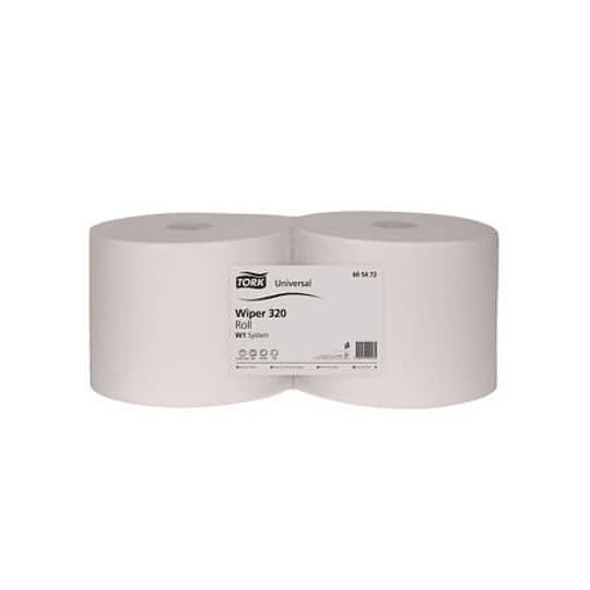 Rolo Toalhas Mãos TORK Fl Dupla Branco 24cm (400mts) - 2un