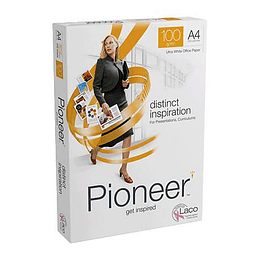 Papel Fotocópia A4 100GR Pioneer Branco Emb. 250Fls