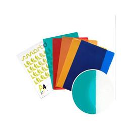 Bolsa Plástico em L A4 Translúcido (90microns) Verde - Pack 100 uni