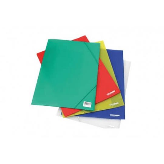Capa C/Elásticos A4 PP Translúcido (310X230X35mm) Sortido - 1uni