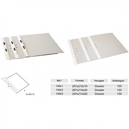 Dossier Lusoplex 400Gr C/Fer.Carr. L1cm (Tribunal) - Pack 50