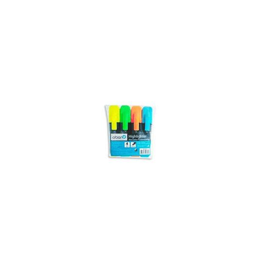 Marcador Fluorescente 1107 Bolsa 4 Cores (ALBAN)