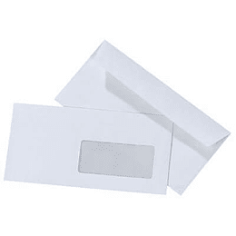 Envelopes 110x220mm com janela - 500uni
