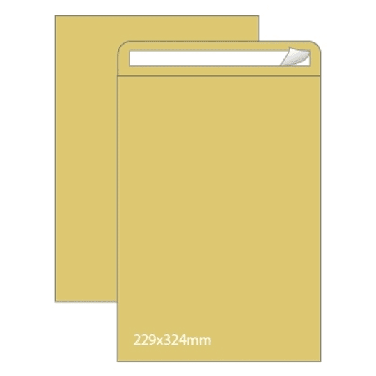Envelopes Saco Kraft 229x324mm - 25uni