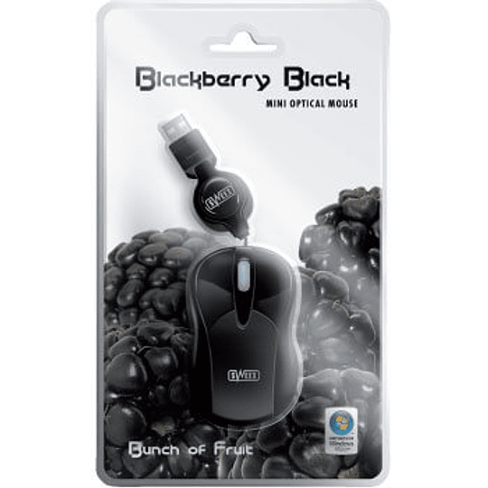 Rato mini Sweex USB optico retractil Blackberry Black
