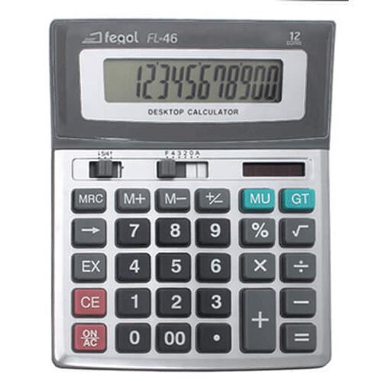 Calculadora de Secretária Fegol FL-46 (12 Dígitos)