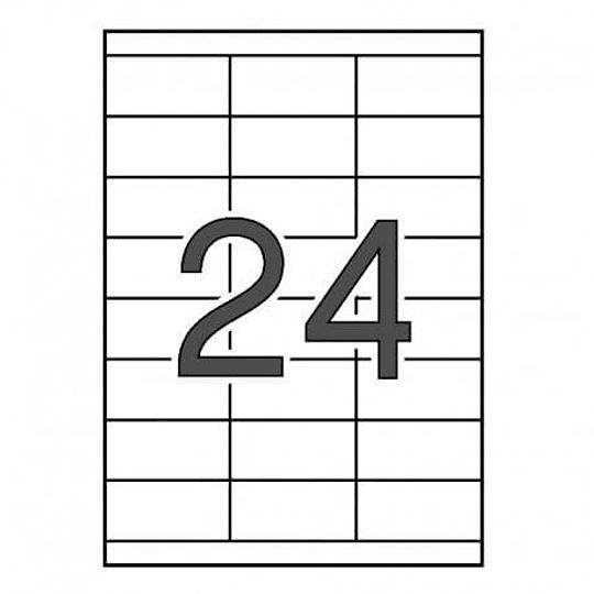 Etiqueta Fegolabel A4 70x33,8MM Branca (CX.100F=2400UDS)