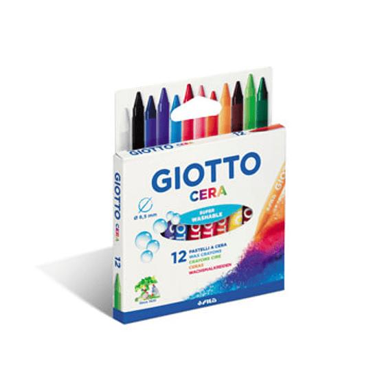 Lápis de Cera Giotto 12 Cores