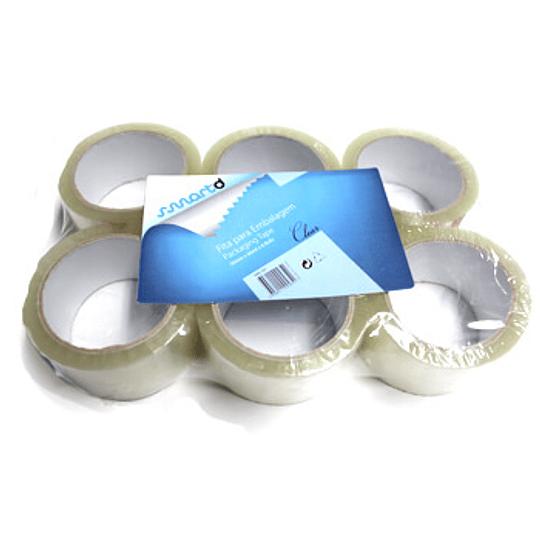Fita Adesiva PPL Transparente 50mmx66mts - Pack 6