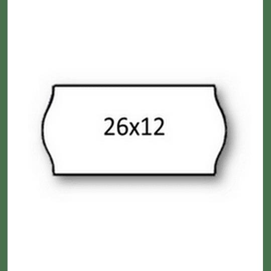 Rolo Etiqueta 26X12mm AD2 Canto Redondo Branca (1500UDS) - 1uni