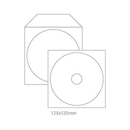Bolsa P/CD-DVD em Papel C/Janela Branco P/1CD - Pack 50uni