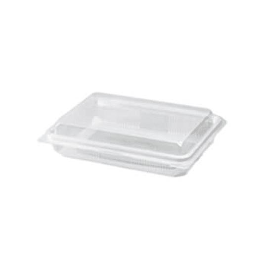 Embalagem C / Tampa p / Alimentar PP Transp Cap 1100gr -Pack25