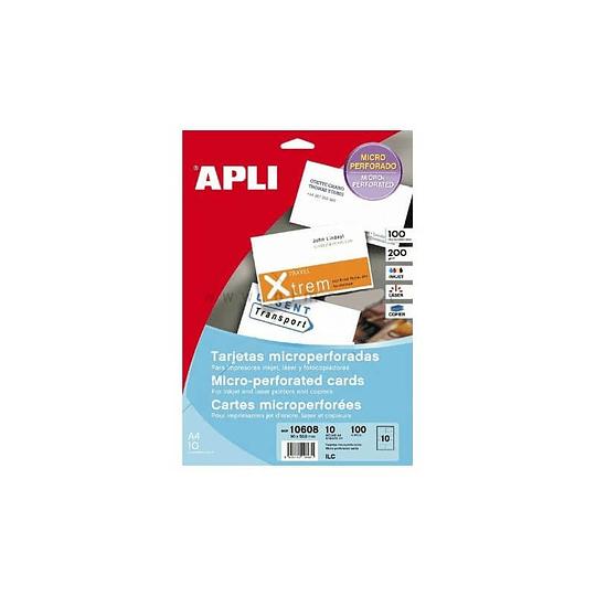 Papel apli A4 200gr p/100 cartões visita (caixa.10folhas)