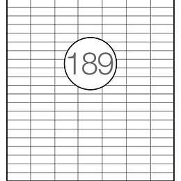 Etiquetas A4 30x11mm branca (CX.100F)