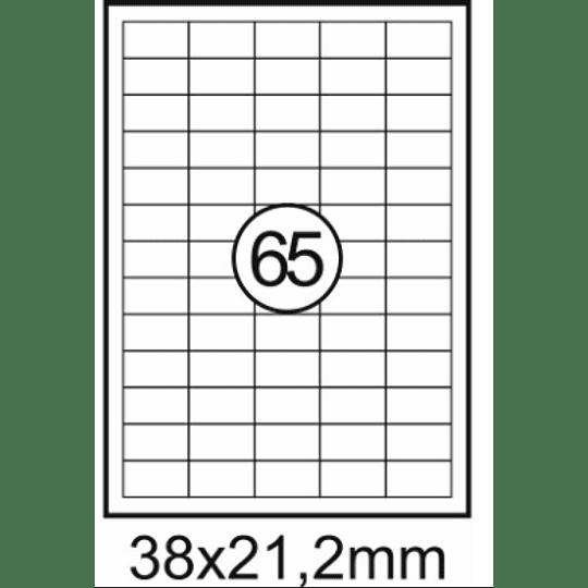 Etiquetas A4 38x21,2mm branca (CX.100F)
