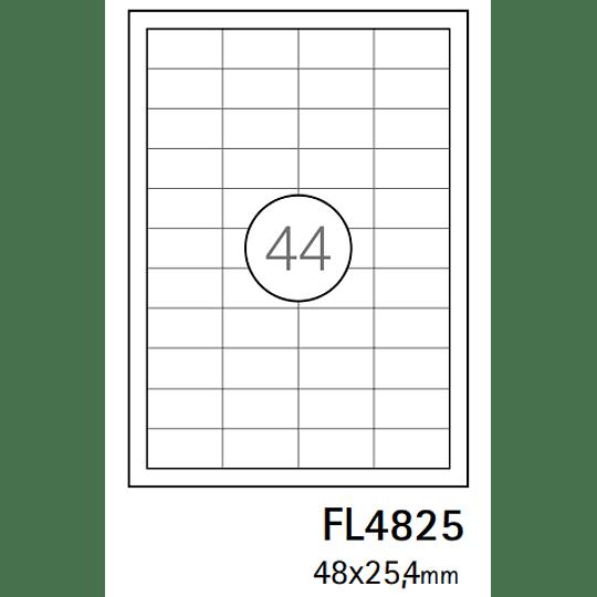 Etiquetas A4 48x25,4mm branca (CX.100F)