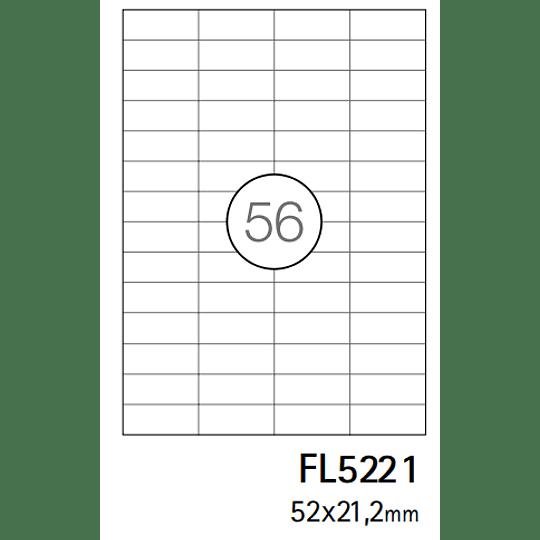 Etiquetas A4 52X21,2mm branca (CX.100F)