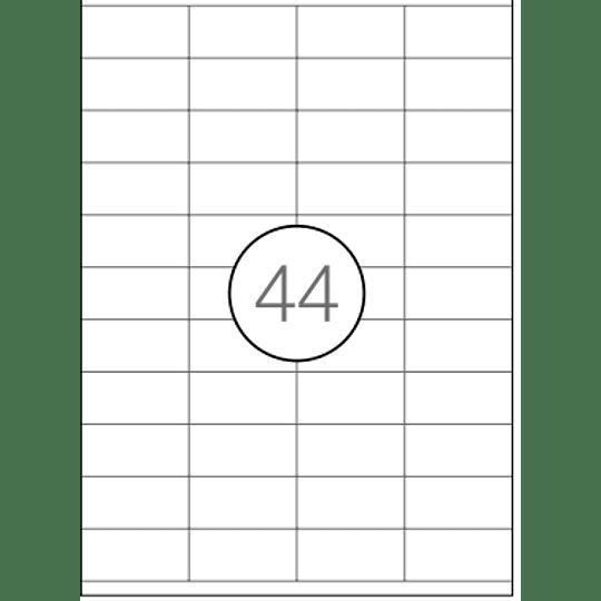 Etiquetas A4 52x25mm branca (CX:100F)