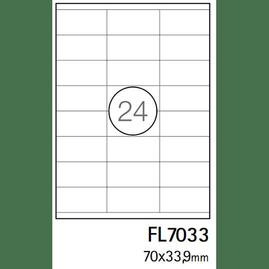 Etiquetas A4 64,6x33,9mm branca (CX.100F)