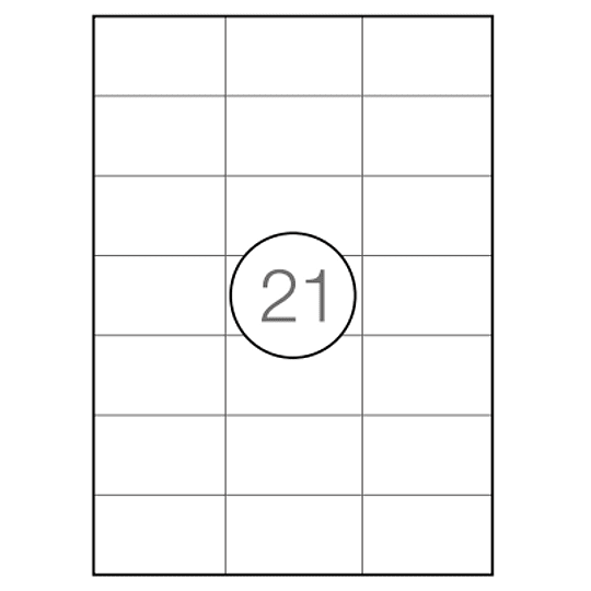 Etiquetas A4 70x42,4mm branca (CX.100F)