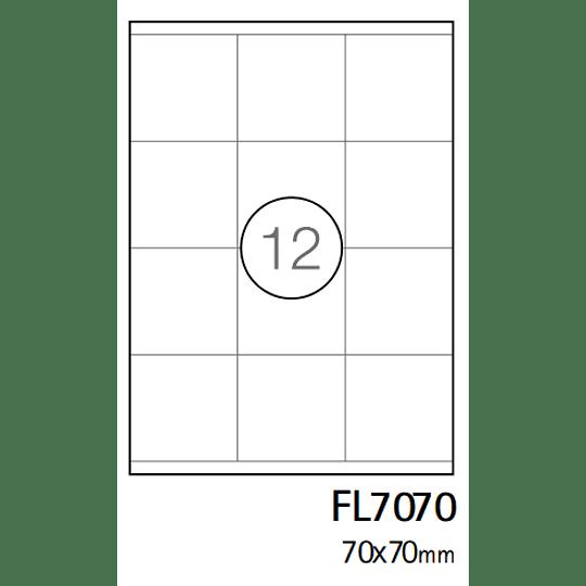 Etiqueta A4 70x70mm branca (CX.100F)