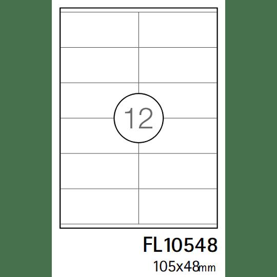 Etiquetas A4 97x42,4mm branca (CX.100F)