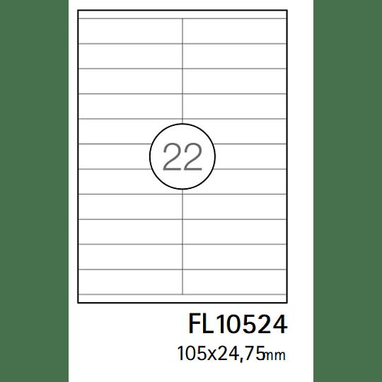 Etiquetas A4 105x25,4mm branca (CX.100F)