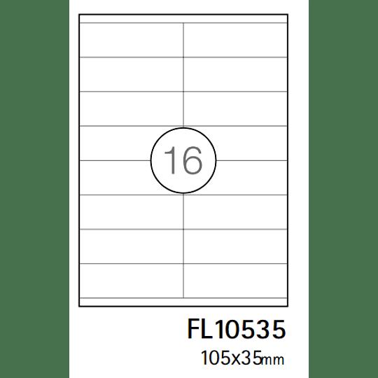 Etiquetas Fegol A4 105x37mm branca (CX.100F)