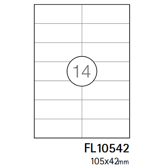 Etiquetas A4 105x42,4mm branca (CX.100F)