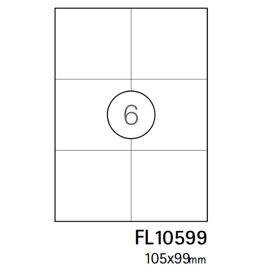 Etiquetas A4 105x99mm branca (CX.100F)