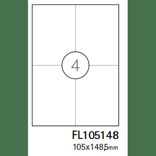 Etiquetas A4 105x148,5mm branca (CX.100F)