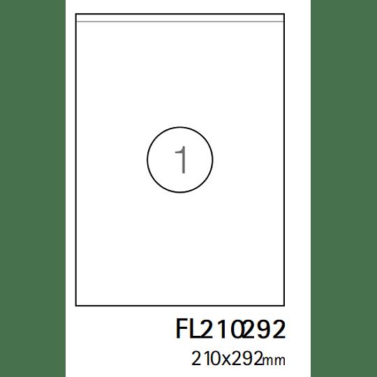 Etiquetas A4 210x297mm branca (CX.100F)