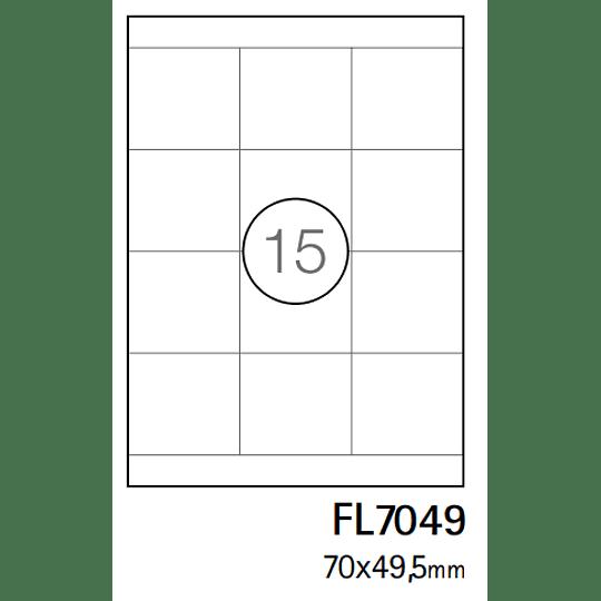 Etiquetas A4 70X49,5mm branca (CX.100F)