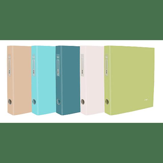 Pasta arquivo A4 L40 - cores Pastel- pack 10uni
